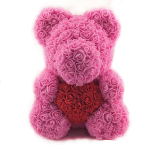 40 CM Sitting Bear with Heart